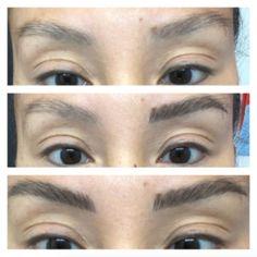 Eyebrow Makeup Tips, Hair And Makeup Tips, Medium Dark Brown Hair, Light Brow, Black Eyebrows, Brow Pen, Black And Blonde, Makeup Brush Holders, Eyebrow Tattoo