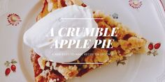 A delicious and relatively easy-to-make recipe for a pie, that is scrumptious with apples but works well with many different berries and fruits as well. Apple Crumble Pie, Apple Pie, Easy Food To Make, Pie Recipes, Spoons, French Toast, Berries, Fruit, Breakfast