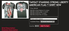Tapout Standing Strong Liberty American Flag T-shirt, $24.99