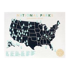 Look what I found at UncommonGoods: National Parks Sticker Map for $55 #uncommongoods