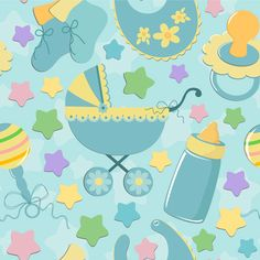 Baby theme background vector material   Free download Web