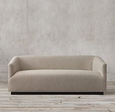 6' 1950s Italian Shelter Arm Upholstered Sofa