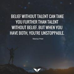 Belief is the key
