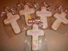 communion sugar cookie favors by Mercibeaucookies.blogspot.com