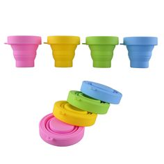 1PC Candy Color Silicone Retractable Folding Cup Outdoor Travel Hiking Sports Camping Cups Telescopic Collapsible Drinkware