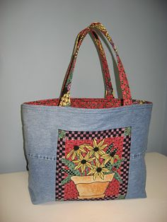 make shopping bag from old jeans