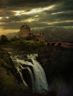 castle on the Scottish moors ? Heathcliffs house ??? :)