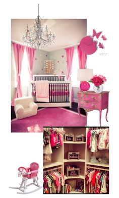 """""""Pink baby room"""" by fashionlover2795 ❤ liked on Polyvore featuring interior, interiors, interior design, home, home decor, interior decorating, Co