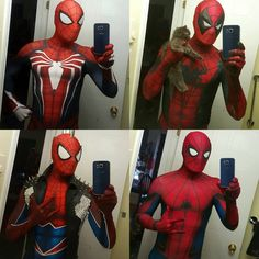 10 New Thoughts About What Is The Best Spiderman Suit? That Will Turn Your World Upside Down Spiderman Venom, Spiderman Suits, Batman, Memes Marvel, Marvel Dc Comics, Marvel Heroes, Cute Cosplay, Best Cosplay, Dead Pool