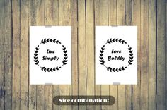 LIVE SIMPLY POSTER Simple Sign Minimalistic by LetuvePosters