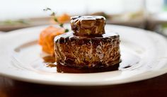 """Voluptuous pleasure of haute cuisine - """"tournedos Rossini"""". From-the-pan filets mignons crowned with a slice of hot foie gras."""