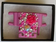Pink Phone Buddy with rose, hearts, flowers and gems. Why not create your own www.phone-buddy.co.uk Create Your Own, Create Yourself, Phone Stand, Hearts, Gems, Rose, Flowers, Pink, Decor