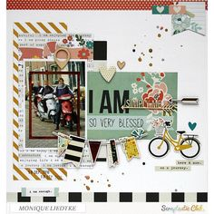 Scrapbook page created by designer Monique Liedtke using the Simple Stories I AM collection available in the Scraptastic Club Store