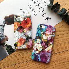 3D Floral Stone Art Floral Iphone Case, Iphone Cases, Stone Art, 3d, Iphone Case, Rock Art, I Phone Cases, Pebble Art
