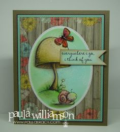 Card by Paula Williamson using Stacey Yacula Studio stamps by Purple Onion Designs.