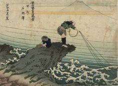 Kajikazawa in Kai Province (Kôshû Kajikazawa), from the series Fine Views of Fuji by the Former Hokusai (Zen Hokusai Fuji shôkei), reproductions of Thirty-six Views of Mount Fuji (Fugaku sanjûrokkei) Japanese Prints, Japanese Art, Japanese Waves, Korean Art, Asian Art, Vincent Van Gogh, Monet, Mont Fuji, Katsushika Hokusai