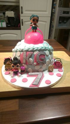 LOL doll birthday cake.