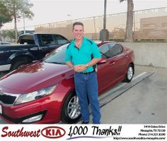 Happy Anniversary to Bruce Aden on your 2013 #Kia #Optima from Dwayne Henry and everyone at Southwest Kia Mesquite! #Anniversary