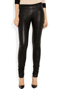 Helmut Lang|Stretch-leather leggings-style pants|NET-A-PORTER.COM