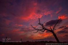 sunset in purple http://ift.tt/1PwaAJe KremastiRhodosiliassunset