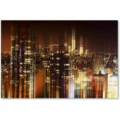 Trademark Fine Art Urban Stretch NYC II Canvas Art by Philippe Hugonnard, Size: 22 x 32, Red