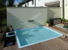 Backyard small above ground swimming pool eye catching for Zfs pool design