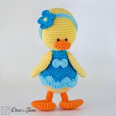 Duck Amigurumi Crochet Pattern from One and Two Company