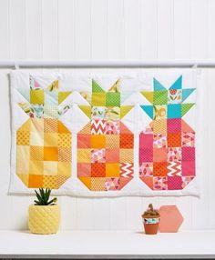 Pineapple block wall hanging