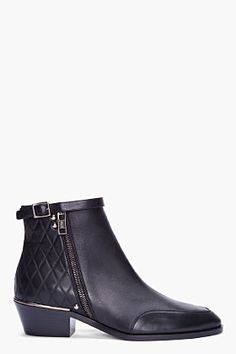 CHLOE Black Leather Zuzanna Boots