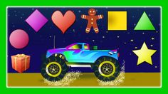 Learn Shapes, Shapes Song With Monster Trucks For Children by JeannetChannel