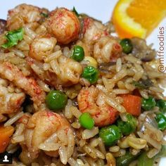 Instagram media by flavorgod - Langostino lobster tail fried rice! Amazing job bud! Simple yet delicious dish from @mffoodies Ingredients: 1/4 cup of diced carrots 1/4 cup of diced green peppers 1/4 cup of diced red onion 1/4 cup of corn & peas 2.5 cups of cooked brown rice 2 cups of Langostino lobster tails season lobster tails with @flavorgodgarlic lovers seasoning and lemon & garlic seasoning spray pan and throw in onions. Stir Fry for a few minutes. add green ...