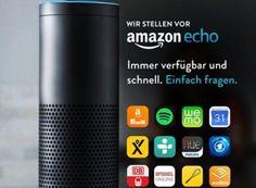 """Amazon Echo: 50 Euro Rabatt für Prime-Kunden bei Reservierung bis Freitag https://www.discountfan.de/artikel/technik_und_haushalt/amazon-echo-50-euro-rabatt-fuer-prime-kunden-bei-reservierung-bis-freitag.php In sechs Wochen kommt er in Deutschland auf den Markt, ab heute kann eine Einladung für ihn angefordert werden: Der interaktive Bluetooth-Lautsprecher """"Amazon Echo"""" ist ab dem 26. Oktober 2016 für 179 / 129 Euro erhältlich. Wir nennen Vor- und Nachteile."""