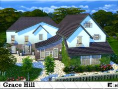 This stylish house has all you need for a small family. Decorated throughout it has a sleek feel about it, and you wont wait to move your sim family in!! It has living/study area, a small...