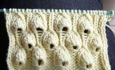 how to knit this seapock or digitalis stitch - tutorial in Dutch and English