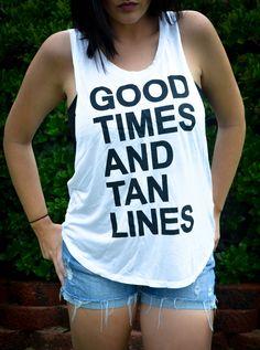 tan lines-white