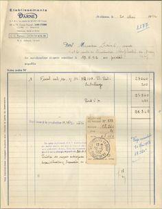 42 SAINT-ETIENNE FACTURE ETS DARNE MANUFACTURE FUSILS DE CHASSE 1952