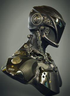 Sci Fi Speedster Bust, by James Lin - https://www.artstation.com/artwork/8O6dw #SubstancePainter #ThisIsSubstance