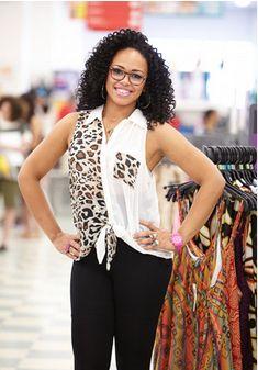 #ElleVarner Leopard print on Ms. Elle looks great! This top is bad (in a good way). :)