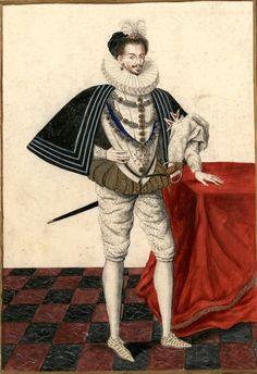 Henri III, roi de France, †1589. Dessin d'un tableau du couvent des Feuillants de la rue Saint-Honoré de Paris (Gagnières 1052). --  «Henry III du nom : Roy de France & de Pologne (mort en 1589)»