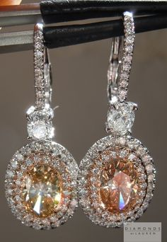 brown diamond halo earrings l diamonds by Lauren