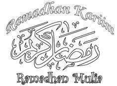 Gambar Mewarnai Ramadhan Arabic Calligraphy, Hat, Chip Hat, Arabic Calligraphy Art, Hats, Sorting Hat