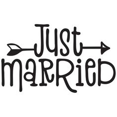 Silhouette Design Store: just married Silhouette Cameo Projects, Silhouette Design, Just Married Sign, Cricut Wedding, Cricut Fonts, Cricut Tutorials, Cricut Creations, Vinyl Projects, Vinyl Designs