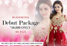 The Best Most Affordable Debut Package in San Juan Metro Manila by Gloria Maris-Wilson Events. Complete and Hassle Free Packages for you...