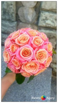 Weeding Bouquet of Miss Piggy - Peach Rose