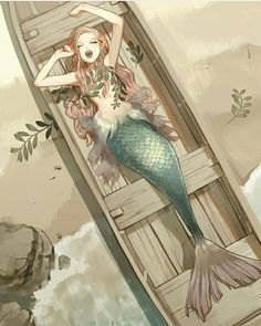 Ideas For Drawing Mermaid Anime Mermaid Drawings, Art Drawings, Mermaid Artwork, Mermaid Paintings, Drawings Of Mermaids, Drawing Ariel, Drawing Disney, Drawing Drawing, Character Inspiration