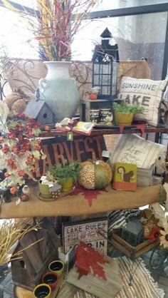 Autumn Display - Oshkosh Murdock St. Autumn Displays, Lake Rules, Table Decorations, Painting, Home Decor, Art, Art Background, Decoration Home, Room Decor