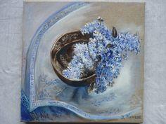 thé au lilas 2014 tableau peinture huile
