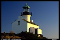 Old Point Loma Lighthouse, late afternoon. San Diego, California, USA (color)