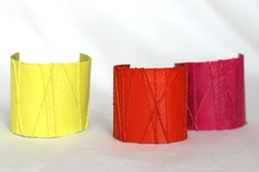DIY Friendship Cuff Bracelets: Video - http://www.pbs.org/parents/crafts-for-kids/cuff-bracelets/