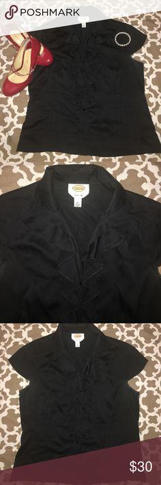 Talbots's Pure Silk Black Blouse Talbots's Pure Silk Black Blouse ➰ Size 10 ➰ Beautiful Condition Talbots Tops Blouses